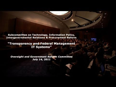 """Transparency and Federal Management IT Systems"""