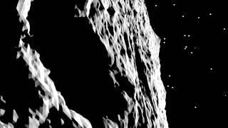 Sunrise at the comet (visualisation)
