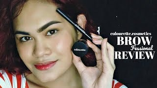 WATER TEST!! | NEW Colourette Cosmetics #Browfessional / REVIEW