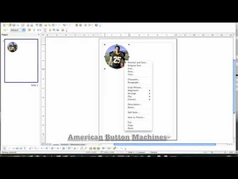 How-To Video Tutorial: Creating Graphics for Button Making Using Open Office Free Graphics Software