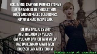 Blank Space| Taylor Swift| Pronunciación