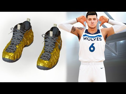 NBA 2k18 My Career - Custom Gold Foamposite Creation! Ep.11