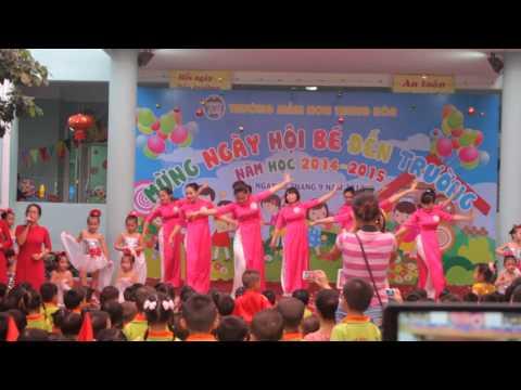 2014-09-05-Khúc ca người giáo viên do thầy cô giáo và các bé trường mầm Non Trung Hòa biểu diễn.