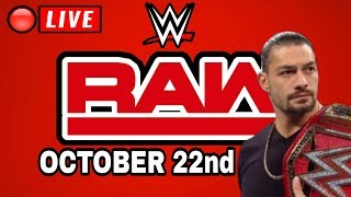 🔴 WWE RAW Live Stream October 22nd 2018 Full Show Live Stream - WWE RAW Live Reactions