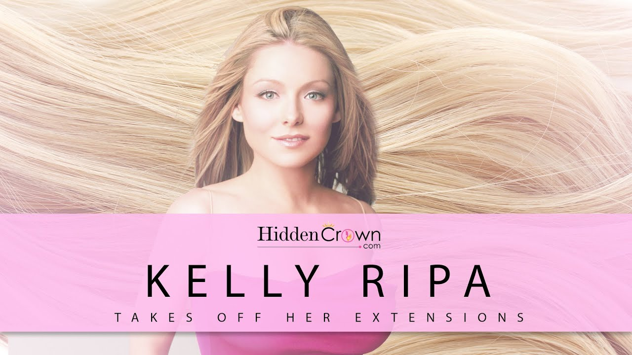 Kelly Ripa Takes Off Her Hair Extensions On A Wire Youtube