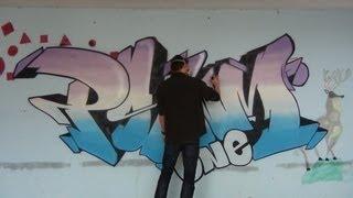 Graff sur mur mtn 94 // Graffiti wall bombing session PSYM one [HD]
