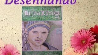 11 -Desenhando- Speed drawing and painting - Jesse Pinkman - Breaking Bad