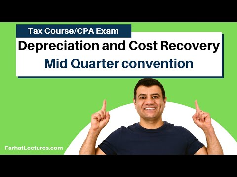 Mid Quarter Convention   Depreciation And Cost Recovery     Income Tax Course   TCJA 2017