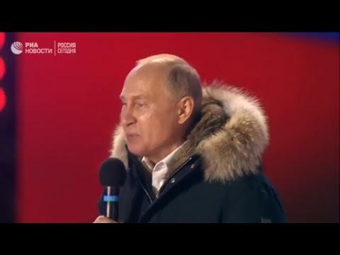 """Путин на митинг-концерте """"Россия. Севастополь. Крым"""""""