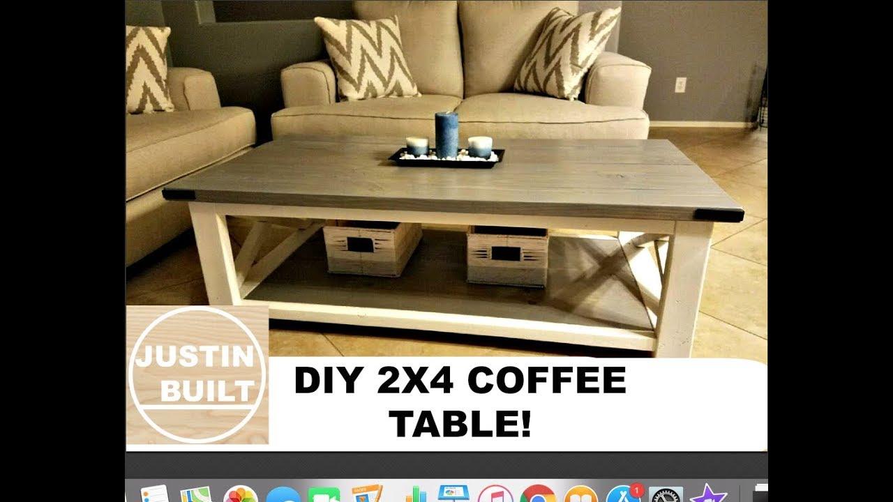 Diy Farmhouse Coffee Table Youtube