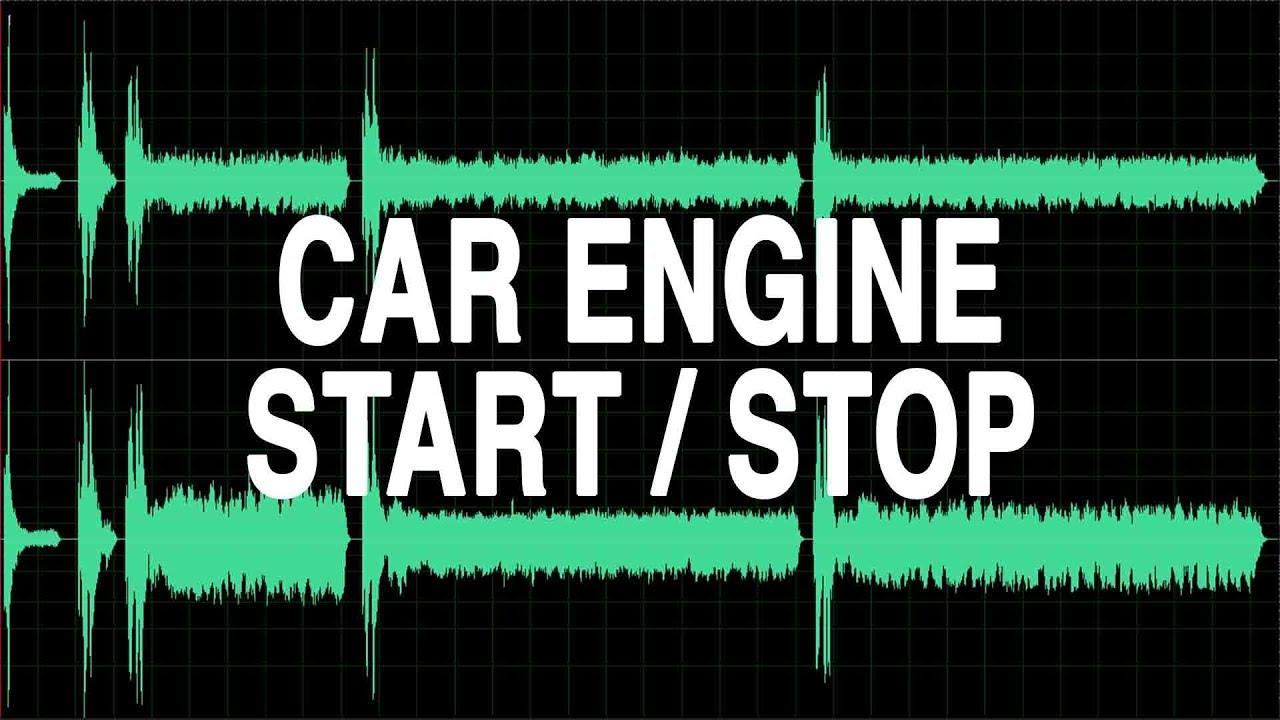Car Engine Start Stop Sound Effect