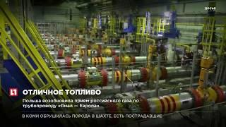 Польша возобновила прием российского газа по трубопроводу «Ямал - Европа»