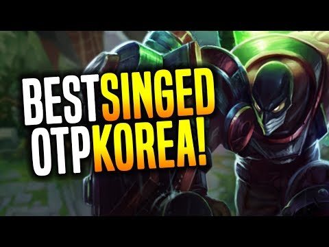 Best Singed Korea OTP +900 Games! - Korean Challenger Singed! | Korean Masters Be Challenger