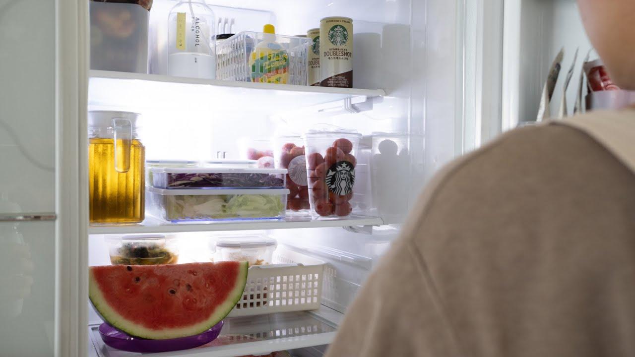 SUB)레몬향이 있는 여름 냉장고 청소법/ 식재료별 수납 정리방법