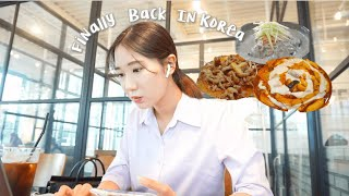 VLOG | 6개월 만에 한국!🎉 써뒀던 먹킷리스트 깨부시는 브이로그. feat. 엽떡, 삼겹살, 닭발, 콩국수, 빙수 thumbnail