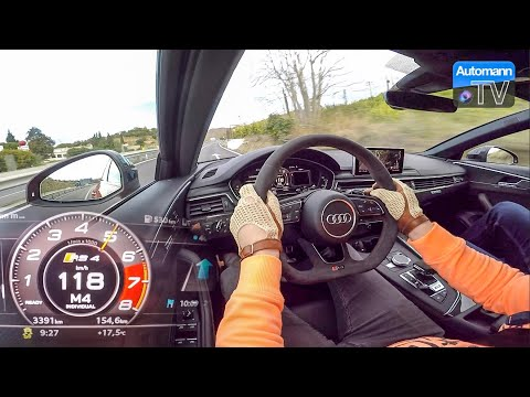 2018 Audi RS4 (450hp) - 0-100 km/h LAUNCH CONTROL (60FPS)