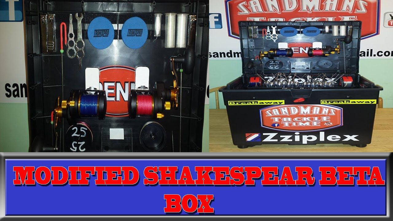 40d233243a9 Sandmans Tackle Time modified shakespeare beta fishing box - YouTube
