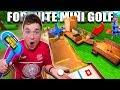 FORTNITE MINI GOLF BOX FORT!! 📦⛳️Papa Jake Vs Logan CHALLENGE