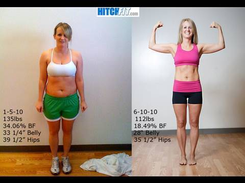 Hitch Fit Body Transformation Mary, dropping 17 bodyfat and 30lbs