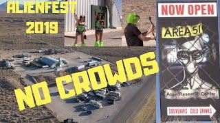 AlienStock Festival - NO Crowds - Area 51 Alien Research Center - Aerial  Views - Rachel Nevada