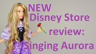 NEW Disney Store Singing Aurora doll review [Sleeping Beauty]