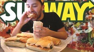 3 Subway footlong challenge
