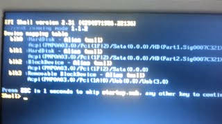 Arreglar canaima se queda en efi shell version 2.31