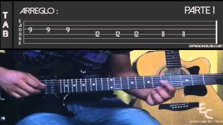 """HOSANNA"" - Marco Barrientos - tutorial de guitarra electrica"