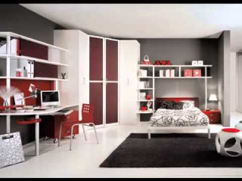 DIY Black White And Red Bedroom Design Decorating Ideas