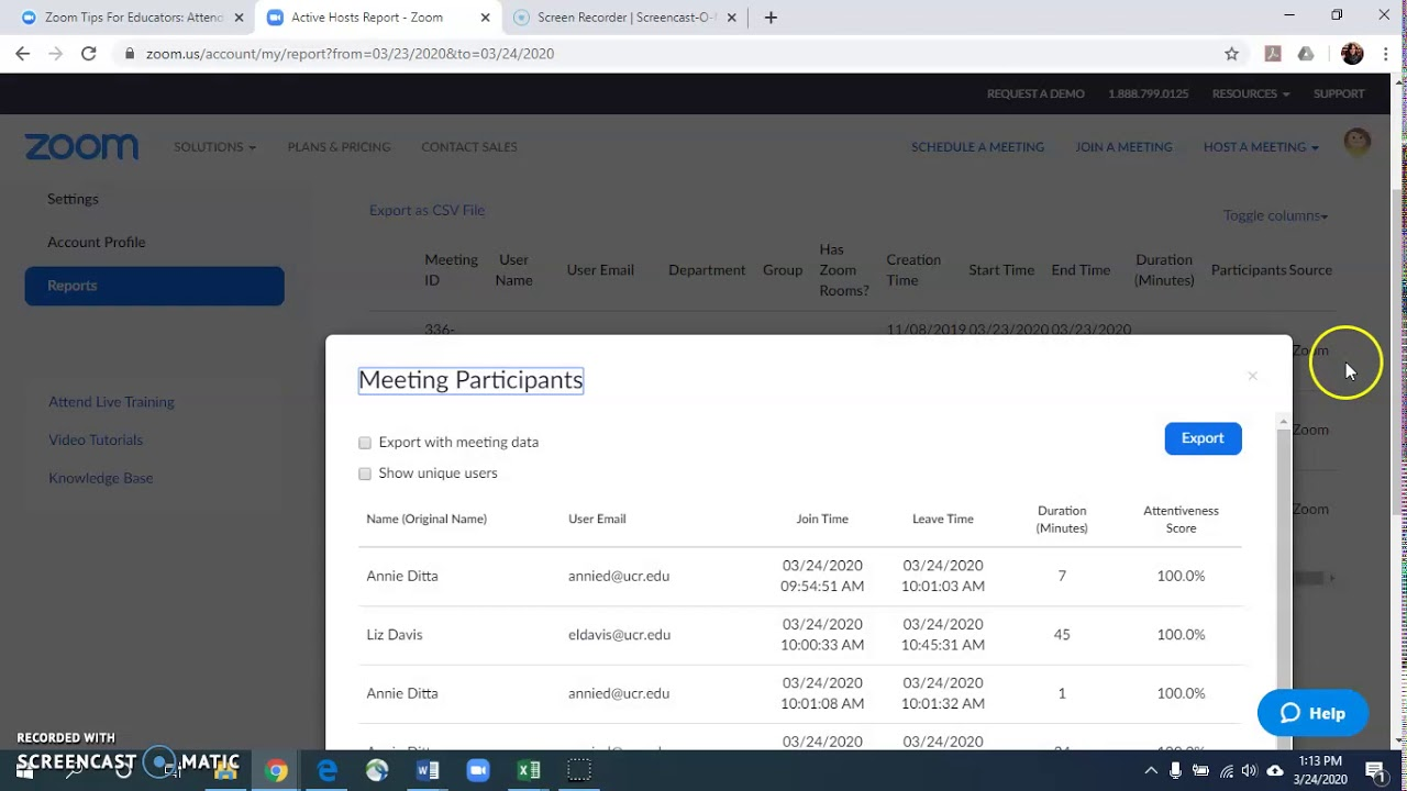 How to Get a List of Participants from Your Zoom Room