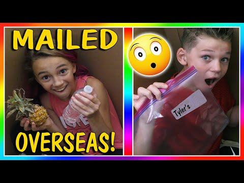 WE MAILED THE KIDS OVERSEAS! | SKIT | We...