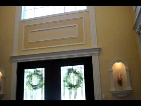 Foyer Door Crown Molding Header And Pillars   YouTube