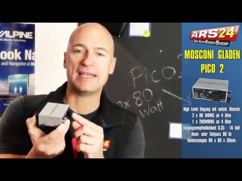 Mosconi Gladen Pico 2 - ultrakleiner Digitalverstärker mit 2x80 Watt RMS