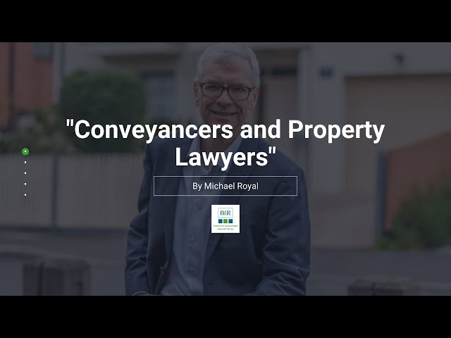 Conveyancers and Property Lawyers | BIR Solutions