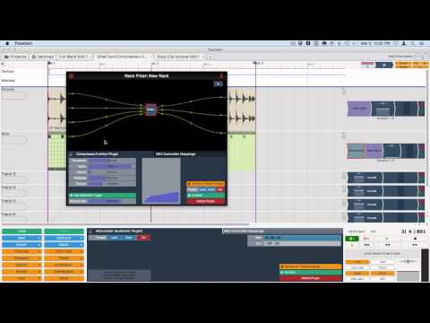 Tracktion 6 New Features - Compressor Side Chain - Bill Edstrom