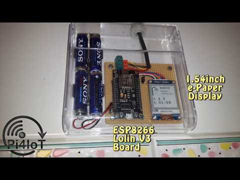 Water Consumption Meter with ESP8266
