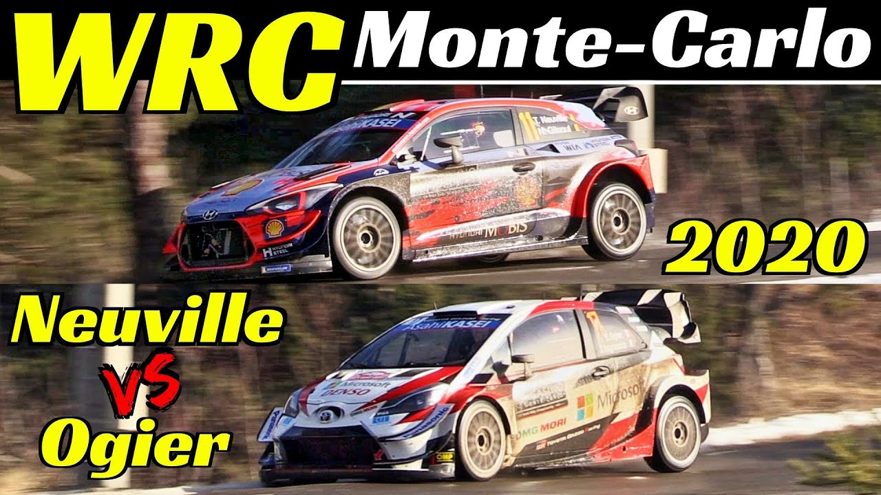 WRC Rallye Monte Carlo 2020 - Thierry Neuville Vs Sébastien Ogier - Comparison, Flatout & Max At