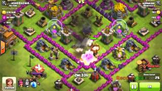 Clash of clans (com musica ) defesa troll =)