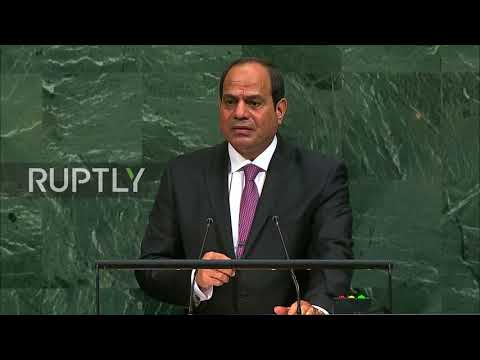UN: Egypt's Sisi Goes Off Script In Confusing Israel-Palestine Plea For Peace
