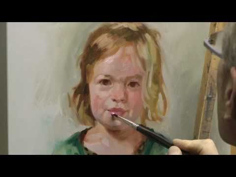 Learn How To Paint A Portrait, Portrait Painting Demo By