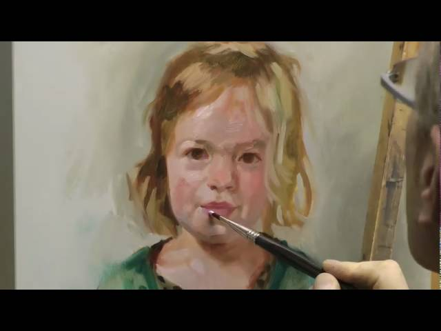 Learn how to paint a portrait, portrait painting demo by ben lustenhouwer #1