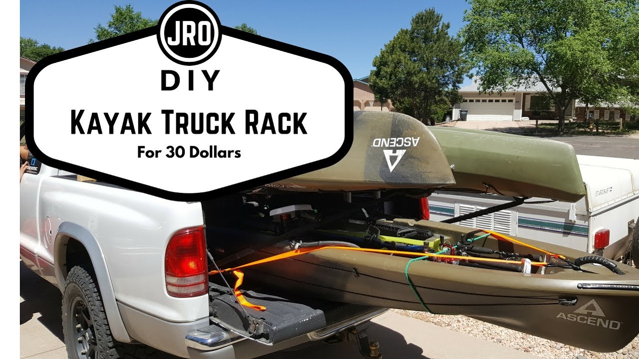Kayak Racks For Pickup Trucks >> Diy Kayak Fishing Truck Rack Youtube
