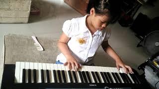 Lagu bunda piano cover by small child