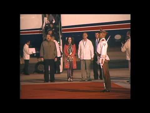 Arribó a Cuba Daniel Ortega Saavedra, Presidente de Nicaragua