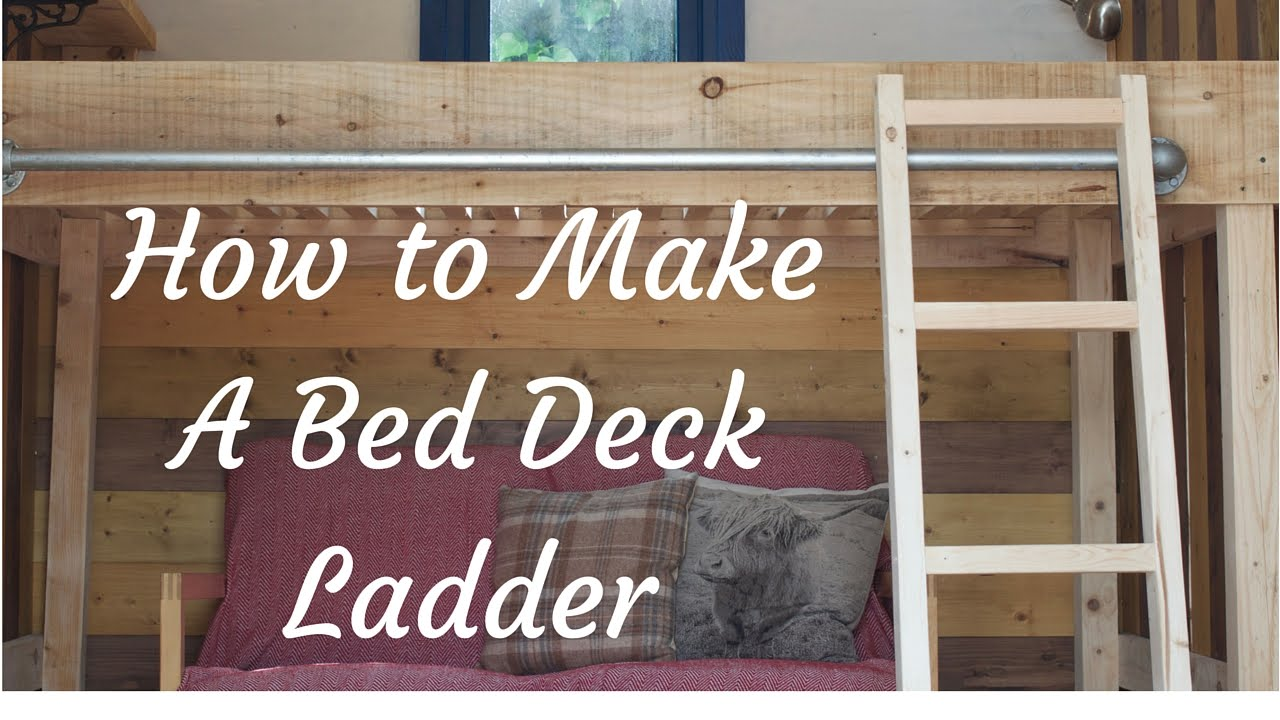 How to make a tiny house shepherds hut bed deck loft ladder