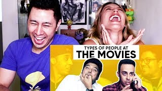 JORDINDIAN | TYPES OF PEOPLE AT THE MOVIES | Reaction!