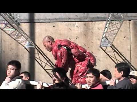 China artist Zhang Huan(张洹) doing performance 'my new york'----new york videodyssey(219)