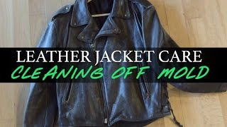 Leather Jacket Care: Cleaning Off Mold