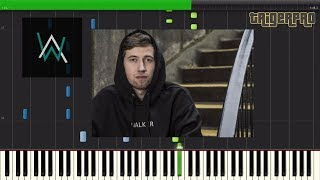 Alan Walker & Alex Skrindo - Sky (Piano Tutorial) [Synthesia]