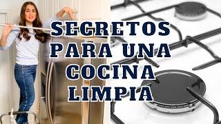 SECRETOS PARA UNA COCINA LIMPIA! | Limpia conmigo! Consejos de Experta en Limpieza